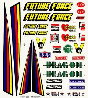 Pine Car Pinewood Derby Drag Racer Decal -- Pinewood Derby Decal and Finishing -- #p316