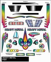 Pinewood Derby Heavy Metal Stick-On Decal Pinewood Derby Decal and Finishing #p321