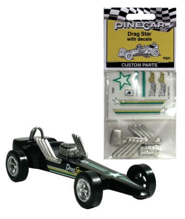 Pine Car Pinewood Derby Drag Star Parts/Decals -- Pinewood Derby Decal and Finishing -- #p331