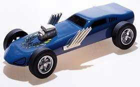 Pine Car Pinewood Derby Turbo Funny Car Deluxe -- Pinewood Derby Car -- #p371