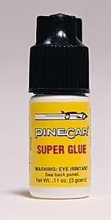 Pine-Car Pinewood Derby Pinecar Super Glue .11 oz Pinewood Derby Tool and Accessory #p381