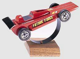 Pine Car Pinewood Derby Racer Display Stand -- Pinewood Derby Tool and Accessory -- #p382
