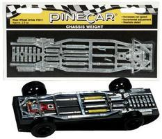 Pine-Car Pinewood Derby Rear Wheel Drive Chassis Weight Pinewood Derby Car Weight #p3911