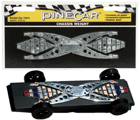 Pine Car Pinewood Derby Rocket Car Chassis Weight -- Pinewood Derby Car Weight -- #p3913