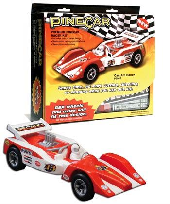 Pine Car Pinewood Derby Can Am Racer Premium Racer Kit -- Pinewood Derby Car -- #p3947
