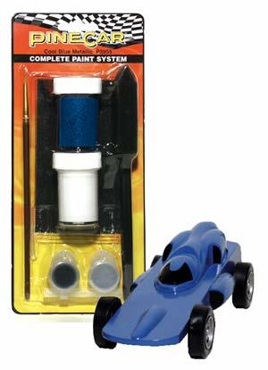 Pine-Car Pinewood Derby Cool Blue Metal Comp Paint System Pinewood Derby Decal and Finishing #p3955