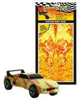 Pine-Car Pinewood Derby Fire Starter Custom Body Skin Pinewood Derby Decal and Finishing #p3977