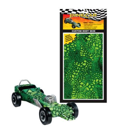 Pinewood Derby Gator Custom Body Skin Pinewood Derby Decal And