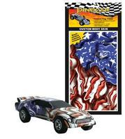 Pine-Car Pinewood Derby Freedom Flag Custom Body Skin Pinewood Derby Decal and Finishing #p3980