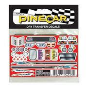 Pine-Car Pinewood Derby Racer Accessories Dry Transfer Pinewood Derby Decal and Finishing #p4013