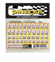 Pine-Car Pinewood Derby Beveled Numbers Dry Transfer Pinewood Derby Decal and Finishing #p4015