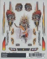 Pine-Car Tiger Dry Transfer 4x5 Pinewood Derby Decal and Finishing #p4029