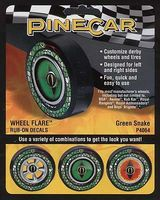 Green Snake Wheel Flare 4x2-1/2 Pinewood Derby Decal and Finishing #p4064