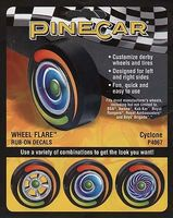 Pine-Car Pine Car Dry Transfer Wheel Flare Cyclone Pinewood Derby Decal and Finishing #p4067
