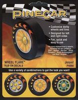 Pine-Car Pine Car Dry Transfer Wheel Flare Juiced Pinewood Derby Decal and Finishing #p4068