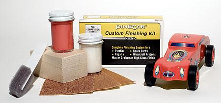Pine Car Pinewood Derby Finishing Kit Competition Orange -- Pinewood Derby Car -- #p407