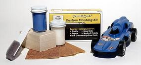 Pine-Car Pinewood Derby Finishing Kit Daytona Blue Pinewood Derby Car #p408