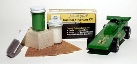 Pine-Car Pinewood Derby Finishing Kit Race Green Pinewood Derby Car #p412