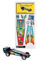 Pine-Car Pinewood Derby Track Twister Temp Stick-On Decal Pinewood Derby Decal and Finishing #p475