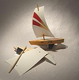 Pine Car Raingutter Regatta Sailboat Racer Kit