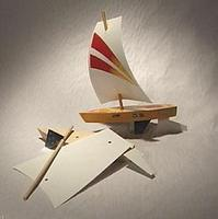 Pine-Car Raingutter Regatta Sailboat Racer Kit