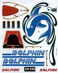 Pine Car SailBoat Racer Dry Transfer Dolphin