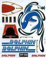 Pine-Car SailBoat Racer Dry Transfer Dolphin