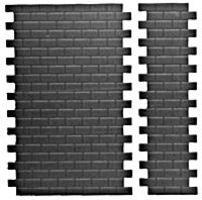 Pike-Stuff Short Interlocking Concrete Block Sheets (8) HO Scale Model Railroad Road Accessory #1006