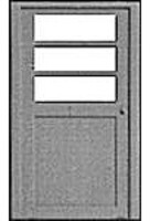 Pike-Stuff 3-Panel Window Door (3) HO Scale Model Railroad Scratch Supply #1104