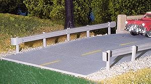 Pike Stuff Highway Guard Rail Kit (6) -- HO Scale Model Railroad Billboard Sign -- #13