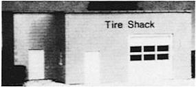 Pike-Stuff KB Tire Shack HO Scale Model Railroad Building #5003