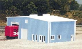 Pike-Stuff Distribution Center 70 x 40 (blue) N Scale Model Railroad Building #8012