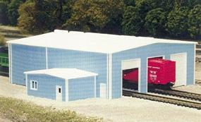 Pike-Stuff The Shops 70 x 80 (blue) N Scale Model Railroad Building #8014