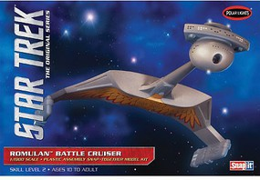 Polar-Lights Star Trek Romulan Battle Cruiser Science Fiction Plastic Model Kit 1/1000 Scale #897