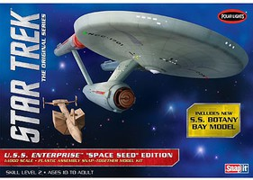 Polar-Lights Star Trek TOS USS Enterprise Space Seed Science Fiction Plastic Model Kit 1/1000 #908