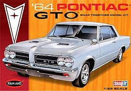 Polar Lights 1964 Pontiac GTO Hardtop Car (Snap) -- Plastic Model Car Kit -- 1/25 Scale -- #928