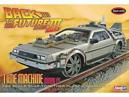 Polar-Lights Back to Future III Final Act Time Machine Plastic Model Car Kit 1/25 Scale #932