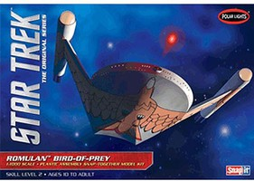 Polar-Lights Star Trek Romulan Bird of Prey Science Fiction Plastic Model Kit 1/1000 Scale #934