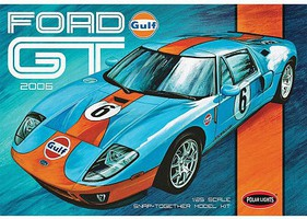 Polar-Lights 2006 Ford GT Snap Kit Snap Tite Plastic Model Vehicle Kit 1/25 Scale #955