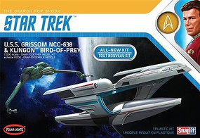 Polar-Lights Star Trek USS Grissom/Klingon BoP Science Fiction Plastic Model Kit 1/1000 Scale #957