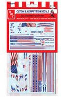 Polar-Lights All American Graphics Decals Plastic Model Vehicle Decal 1/25 Scale #mka026