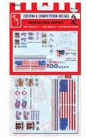 Polar-Lights American Pride Graphics Decals Plastic Model Vehicle Decal 1/25 Scale #mka02