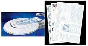 Polar-Lights Star Trek USS Excelsior Aztec Decal Set Science Fiction Plastic Model 1/1000 Scale #mka17