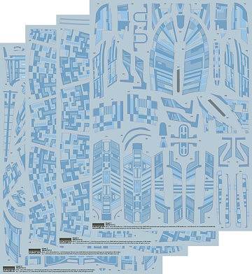 Polar Lights Star Trek USS Enterprise 1701D Aztec Decals -- Science Fiction Plastic Model -- 1/1400 -- #mka19