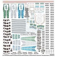 Polar-Lights Star Trek Supplemental Starship Decal Set Science Fiction Plastic Model 1/1000 Scale #mka2
