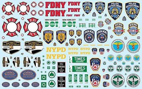 Polar-Lights 1/25 NYC Auxiliary Service Logos Decal Set
