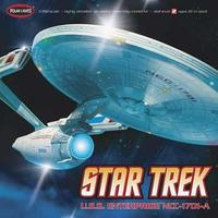 Polar-Lights Star Trek USS Enterprise A Snap Tite Plastic Model Spacecraft Kit 1/350 Scale #pol808