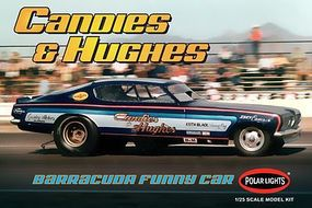 Polar-Lights NHRA Vintage Candies & Hughes Barracuda Plastic Model Car Kit 1/25 Scale #pol853