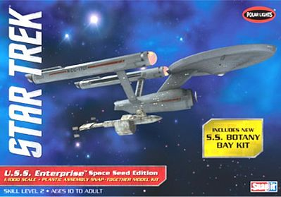 Polar Lights Star Trek USS Enterprise Space Seed -- Science Fiction Plastic Model -- 1/1000 Scale -- #pol908