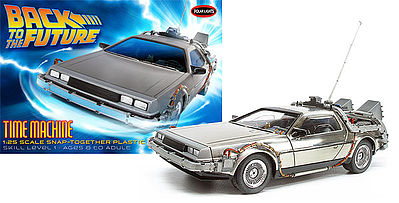 Polar Lights Back to the Future Time Machine -- Plastic Model Car -- 1/25 Scale -- #pol911